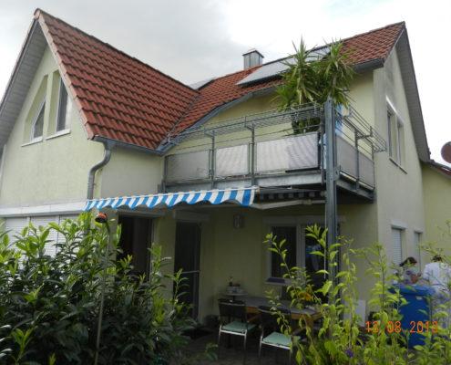 Fassade vorher Rückseite