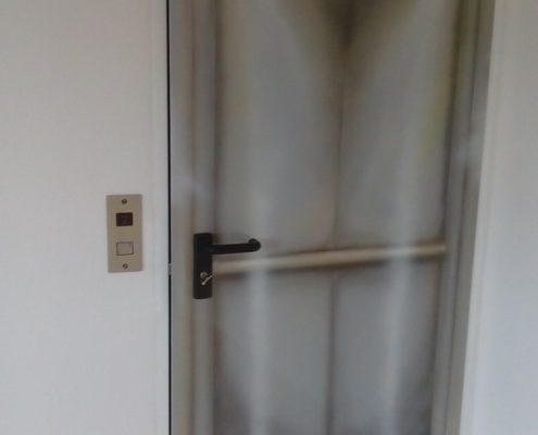 Aufzug geöffnet