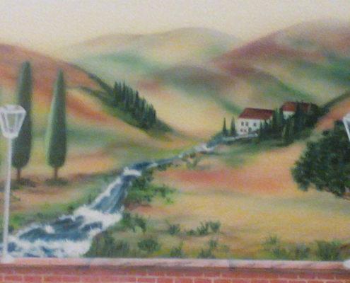 Landschaftsbild auf Leinwand
