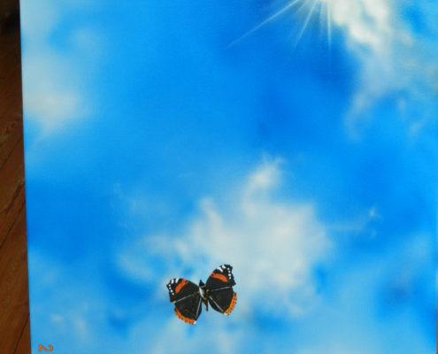 Schmetterling in der Luft