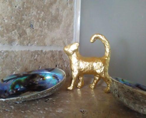 Vergoldung Katze